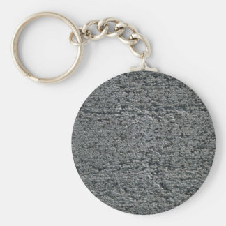 Unpolished granite basic round button key ring