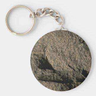 Unpolished granite key ring