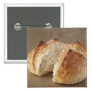 Unpolished rice Bakery?with steam. 15 Cm Square Badge