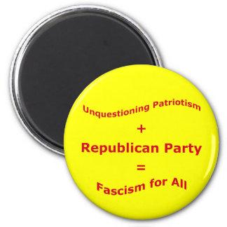 Unquestioning Patriotism 6 Cm Round Magnet