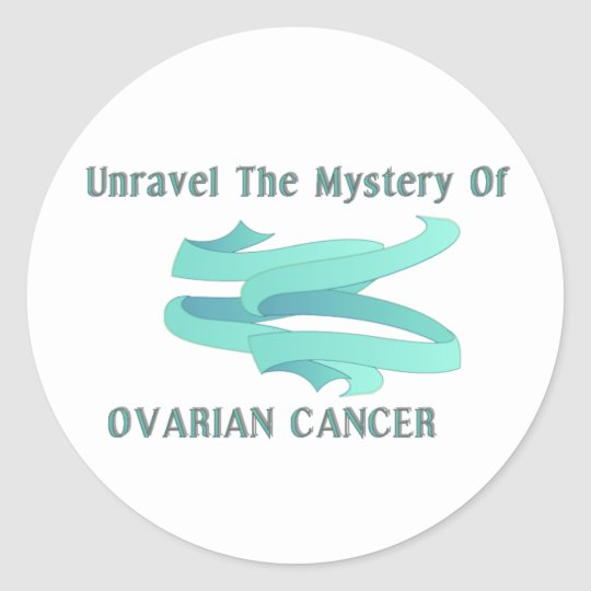 UNRAVEL THE MYSTERY OF OVARIAN CANCER STICKER