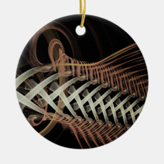 Unraveled Fractal Round Ceramic Decoration