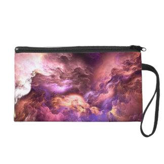 Unreal Purple Clouds Wristlet Clutches