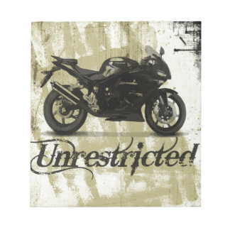 Unrestricted bike poster notepad