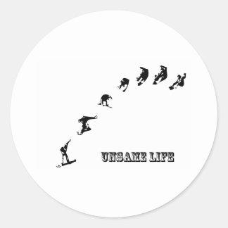 Unsame Life Snowboarder 360 Round Sticker