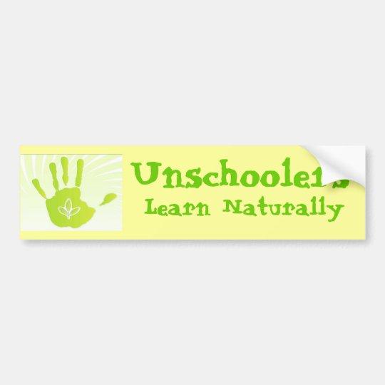 Unschoolers Learn Naturally Bumper Sticker