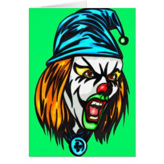Unscrupulous Evil Clown Note Card