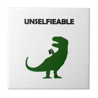 Unselfieable T-Rex Small Square Tile
