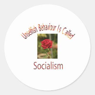 Unselfish Behaviour Round Sticker