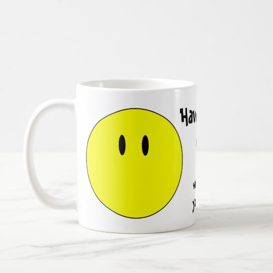 unsmiley coffee mug