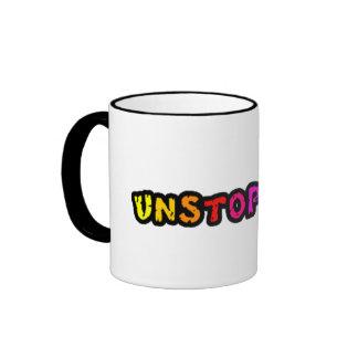 Unstoppable colorful text across the middle/mug ringer mug