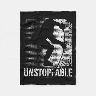 Unstoppable (Hockey) Fleece Blanket