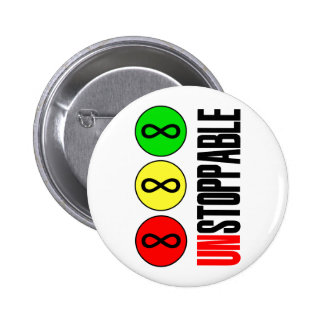 Unstoppable Infinity Stop Sign 6 Cm Round Badge