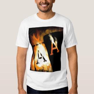 Unsuited Famous Poker Art Flaming Pocket Aces Shirts