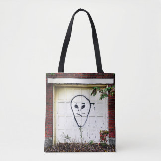 Unsure Alien AL TECH Abandoned Steel Mill Albany Tote Bag