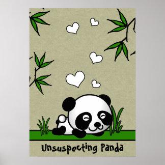 Unsuspecting Panda Posters