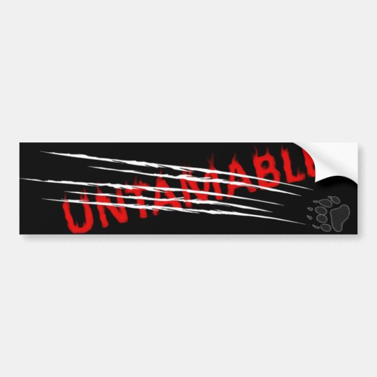 Untamable 2 bumper sticker
