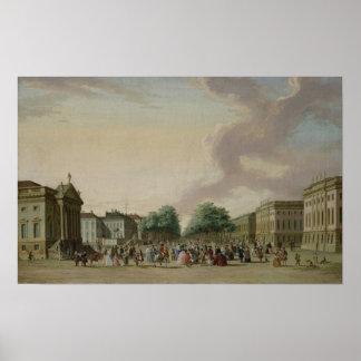 Unter den Linden, Berlin, 1770 Poster
