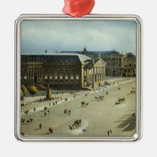 Unter den Linden from the Armoury, c.1855 Christmas Ornament