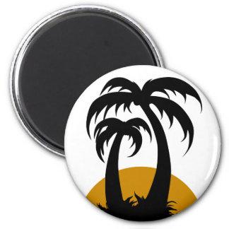 Unter Palmen 6 Cm Round Magnet