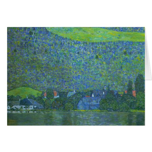 Unterach at Attersee by Klimt, Vintage Art Nouveau Greeting Card