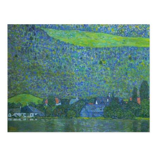 Unterach at Attersee by Klimt, Vintage Art Nouveau Postcards