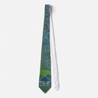 Unterach at Attersee by Klimt, Vintage Art Nouveau Tie