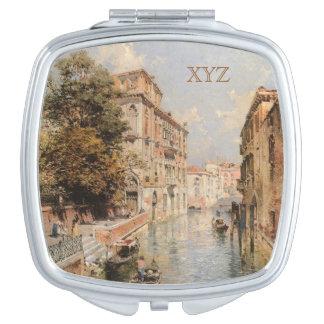Unterberger's Venice custom monogram pocket mirror