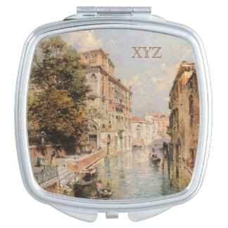 Unterberger's Venice custom monogram pocket mirror Mirrors For Makeup