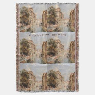 Unterberger's Venice custom throw blanket