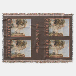 Unterberger's Venice custom throw blanket