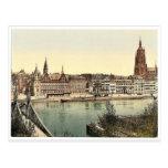 Untermainquai, Saalhof and Cathedral, Frankfort on