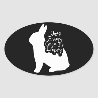 Until Every Cage is Empty (ALF) Oval Sticker