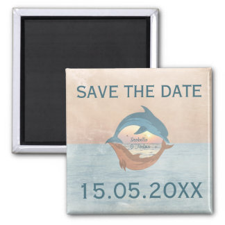 Until the end of time Wedding Save the Date Magnet