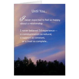 Until You...Romance Greeting Card