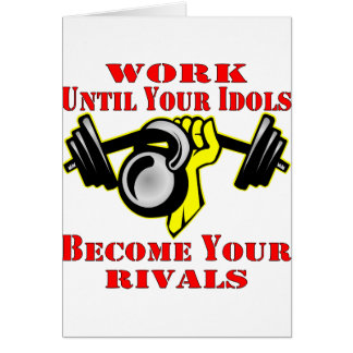 Until Your Idols Become Your Rivals Kettleball Greeting Card
