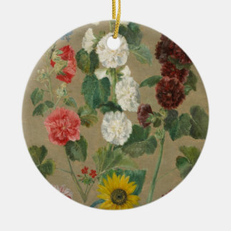 Untitled (Flowers) (oil on board) Christmas Ornament