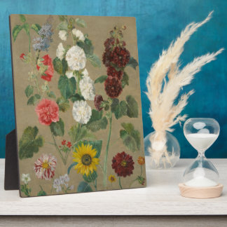 Untitled (Flowers) (oil on board) Plaque