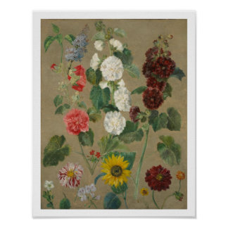 Untitled (Flowers) (oil on board) Poster