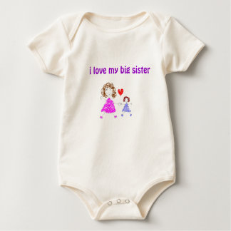 untitled, i love my big sister baby bodysuit