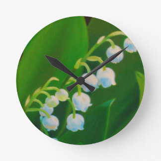 Untitled Lily of the Valley Round Clock