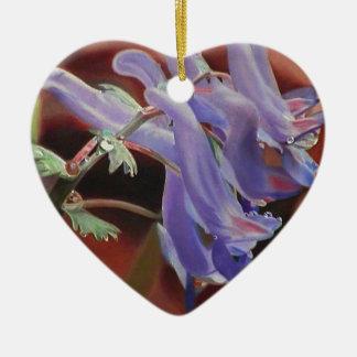 Untitled Purple Flowers Christmas Tree Ornaments