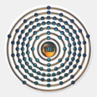 Ununpentium Molecule Classic Round Sticker