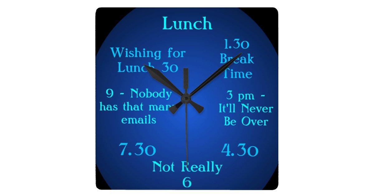 Unusual 1 30 Clock One Thirty Break Time Clock 5 Zazzle Co Uk