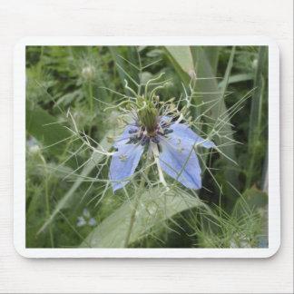 Unusual Blue Flower Mousepads