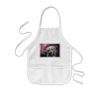 Unusual Chinese Crested Kids Apron