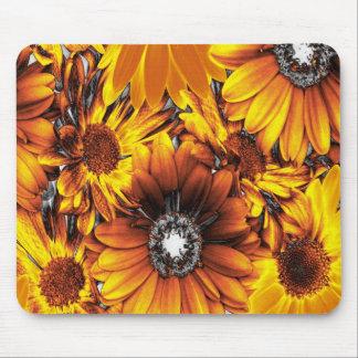unusual flowers golden mousepad