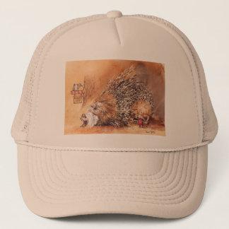 unusual haircut trucker hat