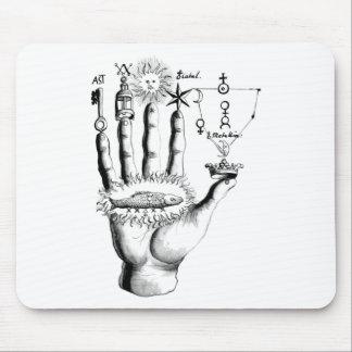 Unusual Hand Sun Alchemy Steampunk Mouse Pad