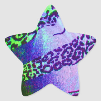Unusual Leopard Print in Tropical Colors Sticker